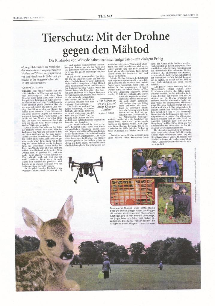 Tierschutz: Mit der Drohne gegen den Mähtod